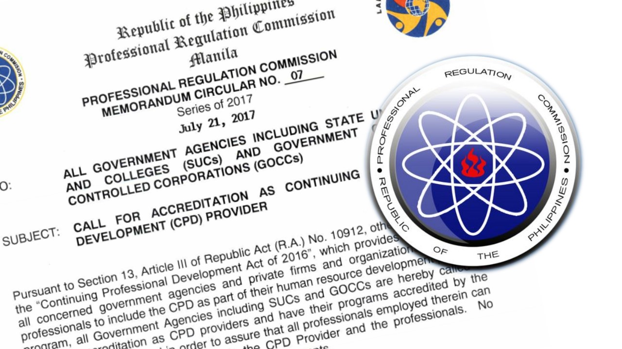 PRC requests government agencies to apply as CPD providers