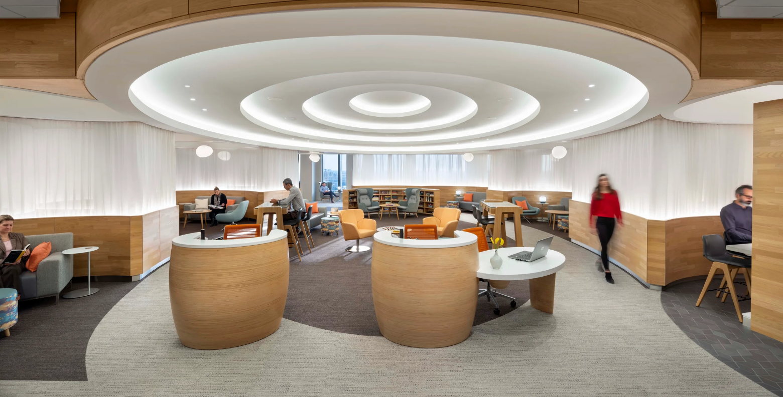 "ICRAVE's design for The David H. Koch Center for Cancer Care at Memorial Sloan Kettering Cancer Center features interactive waiting ""nooks"" scattered around the bulding and hand washing stations on every floor. Photo: Chris Cooper"